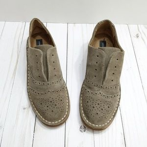 Steve Madden tan leather loafers saddle shoes 6
